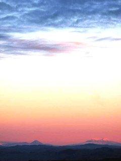 Sunset over Tongariro National park