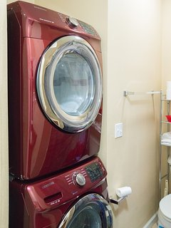 Downstairs full bathroom.  Also BRAND NEW full stacked washer and dryer