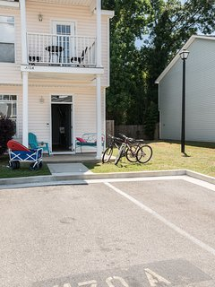 A 2 story townhouse and all the extra amenities and toys provided