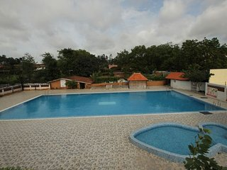 Comfortable abode with a pool, ideal for small groups