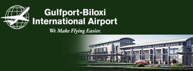 The Gulfport/Biloxi airport is 12 minutes away