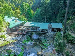NEW LISTING! Unique riverfront house w/ tranquil river views & forest scenery