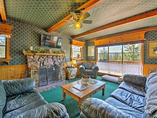 NEW! Cabin w/Deck & Views Steps from Big Bear Lake