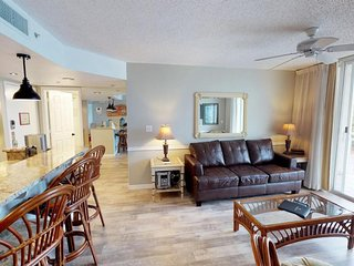 Sunrise Suites condo w/balcony, shared pool & hot tub, tennis, & covered parking