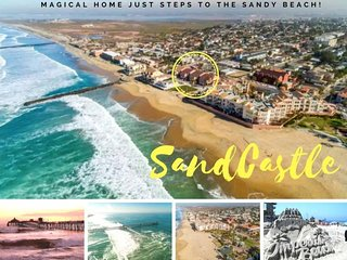 NEW! SANDCASTLE: Magical Home Steps to the Beach!