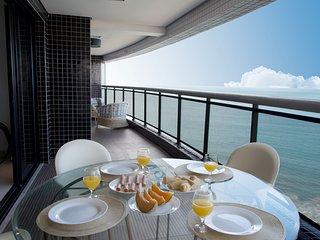LAN1109 Luxuoso apartamento de 3 quartos com a melhor vista de Fortaleza