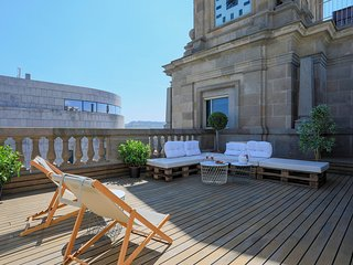 Unique Rentals - Central penthouse with terrace Placa Catalunya I