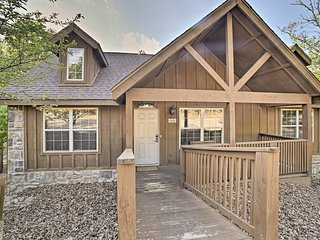 This 2-bedroom, 2-bathroom cabin is perfect for your family of 6.