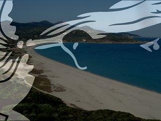 T3 Duplex 6 P clim + wi-fi + piscine + plage de Lozari (Ile Rousse) 7 mn à pied