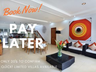 BEST BIGGEST BALI BEACH VILLA! 10BED-POOL-CAR-FREE