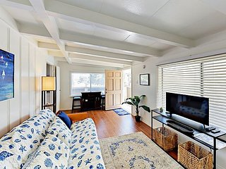1BR w/ Ocean-View Balcony & Steps to Beach - Wake Up to Sounds of the Ocean!
