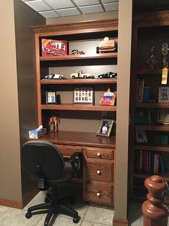 Desks in two bedrooms