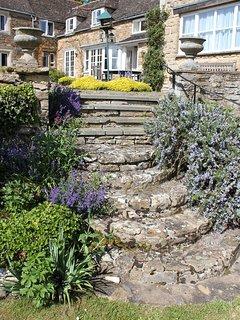 Main garden steps