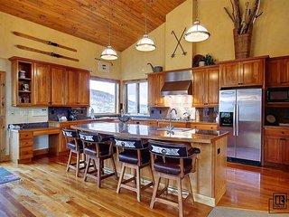 Fully stocked gourmet kitchen