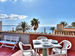 SEA VIEWS ROOF in 4-Bedroom Veler House in the lively area of CAN PASTILLA