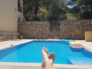 Villa Santi, Uzumlu - large 6 Bedroom villa -with 40m2 private pool