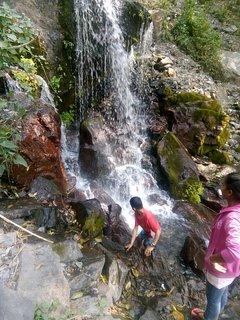 Waterfalls near the Sattal Lake