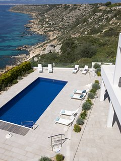 SON MARES. Cliff sea front-views. heated pool
