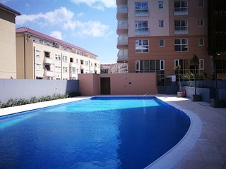 Newly built Studio Apartment in Gibraltar city with pool/wifi + seaview- WestOne
