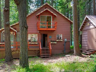 Cozy dog-friendly cabin with peaceful atmosphere near hiking, beach, skiing