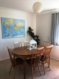 Dining Room - comfortably sits 7 people