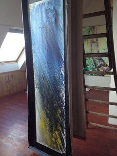 Les tableaux de l'atelier d'artiste