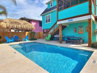 Wonderful 5 bedroom home and just a short walk to the beach! Heated Pool!