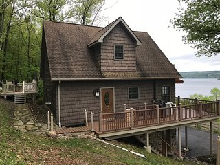 Private Keuka Lake-front Chalet | Stunning Views & Game Room Sleeps 10