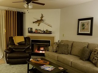 Christmas Tree*Cute & Cozy Fireplace*Pet Friendly*Indoor Pool*Hot Tub*Bar/Grill