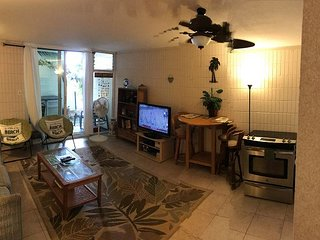 Full sized and renovated studio condo; ground floor walk out to the beach