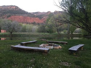 Cabin on Private Ranch on the Animas River - Stocked Pond