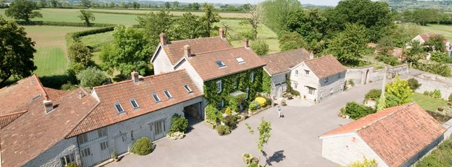 Arial view of farm house