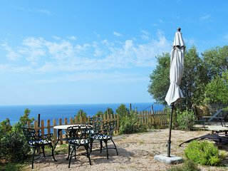 Semi-detached house, garden with panoramic sea views