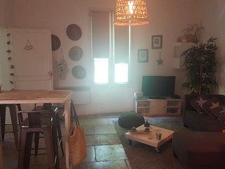 coup de coeur pour cet appartement entièrement rénové et équipé,  décoration zen