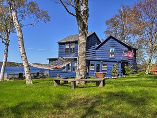 Oceanfront 3BR Atlantic Blue Cottage in Harpswell