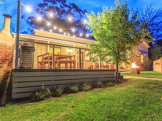 The large deck is the perfect for outdoor dining