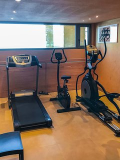 Gym equipment available in the Villa.