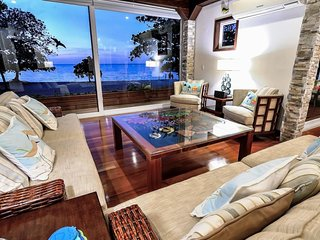 Elegant Custom Beachfront Villa With Floor To Ceiling Glass Walls, 180 Sea-View