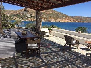 Beachfront Crystal Bay Villa, Patmos