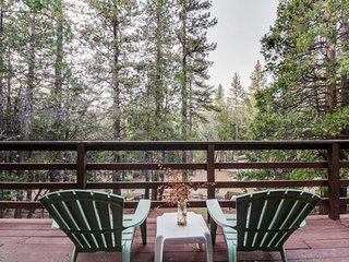 Modern Mtn Home w/ Woodland Views, Fireplace, Wraparound Deck!