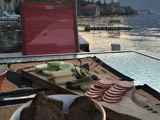 Heritage House, Ground Floor, Waterfront, Private Patio, Kotor Bay Views & Jetty