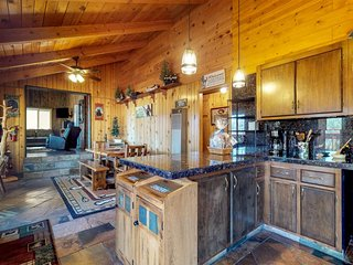 Upscale cabin with private hot tub, amazing lake views, peaceful location & more