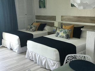Recently remodeled ocean view suite on hotel zone