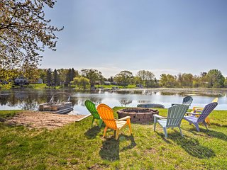 NEW! Lakefront 3BR Gladwin Home w/ Deck & Pontoon!