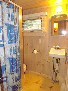 Cottage Bathroom with Shower Stall