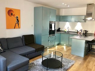 Modern 1bed sleeps 4/King's Cross w Balcony