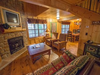 Pet & Family-Friendly Cabin w/ WiFi, Fireplace, Resort Pool, Grill & Fitness Gym