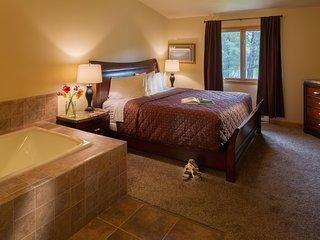 Tamarack and Mirror Lake Resort Two Bedroom Master Bedroom (2)