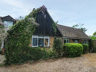 LITTLE BUNTY LODGE, WiFi, exposed beams, open-plan, in New Forest National Park,