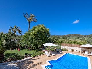 Alia Stone Villa with private heated pool, huge garden and playground.